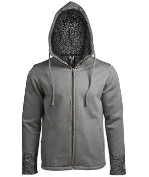 bluza BUDDHAFUL - TIMURESE grey rozpinana, z kapturem