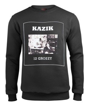 bluza KAZIK - 12 GROSZY, czarna, bez kaptura