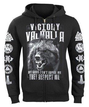 bluza VICTORY OR VALHALLA - MY GODS... rozpinana, z kapturem