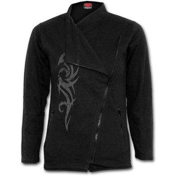 bluza damska STAINED TRIBAL czarna, rozpinana