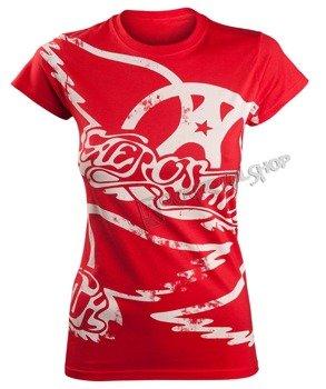 bluzka damska AEROSMITH - RED ALL OVER LOGO