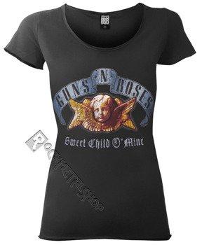 bluzka damska GUNS N' ROSES - SWEET CHILD O' MINE, ciemnoszara