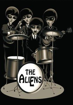 flaga THE BEATLES ALIEN