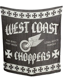 flaga WEST COAST CHOPPERS - WINGS SCARF (120cm x120cm) black