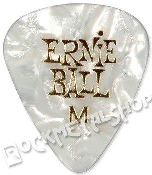 kostka gitarowa ERNIE BALL PEARLOID white