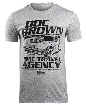 koszulka BACK TO THE FUTURE - DOC BROWN TIME TRAVEL AGENCY