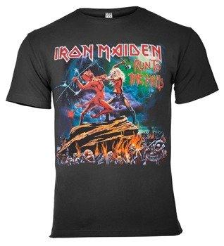 koszulka IRON MAIDEN - RUN TO THE HILLS ciemnoszara