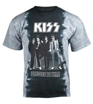 koszulka KISS - SHOCK ME DRESSED TO KILL barwiona
