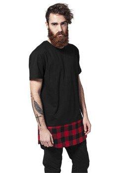koszulka LONG SHAPED FLANELL BOTTOM blk/blk/red
