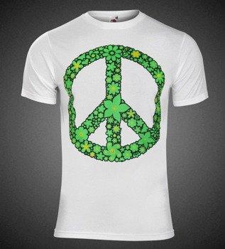 koszulka PACYFKA - FLOWER POWER biała