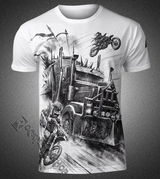 koszulka WASTELAND - TRUCK, biała