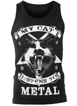 koszulka na ramiączkach AMENOMEN - MY CAT LISTENS TO METAL (OMEN118KR)