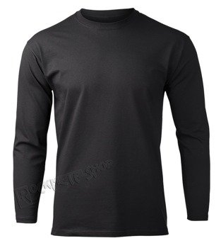 longsleeve FRUIT OF THE LOOM - BLACK bez nadruku