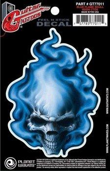 naklejka na gitarę BLUE FLAME SKULL (GT77011)