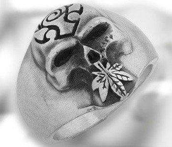 pierścień SKULL & SWEET LEAF