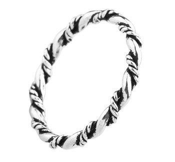 pierścionek SPIKES, srebro 925