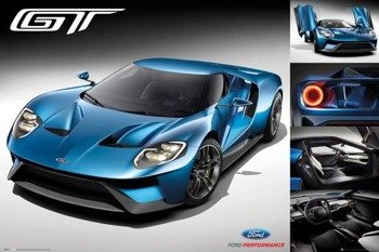 plakat 3D FORD SHELBY - MUSTANG GT500