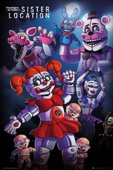 plakat FIVE NIGHTS AT FREDDYS - SISTER LOCATION GROUP