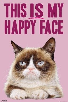 plakat GRUMPY CAT - HAPPY FACE
