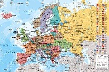 plakat MAPA EUROPY