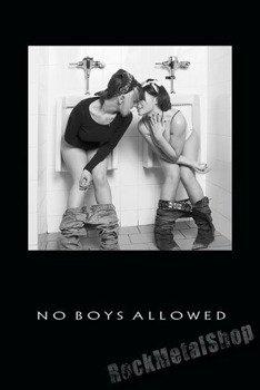 plakat NO BOYS ALLOWED