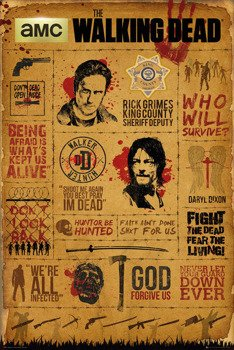 plakat THE WALKING DEAD - INFOGRAPHIC
