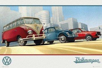 plakat VW  CAMPER - ILLUSTRATION