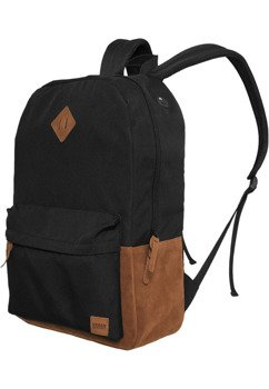 plecak BACKPACK LEATHER IMITATION blk/brn