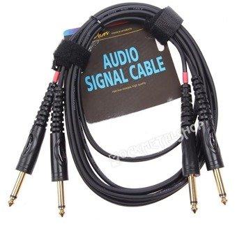 przewód audio BOSTON: 2x DUŻY JACK MONO (6.3mm) - 2x JACK MONO (6,3mm) / 6m