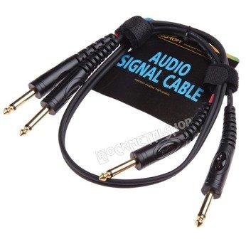 przewód audio BOSTON: 2x jack/jack duży (6,3mm) / 0,75m