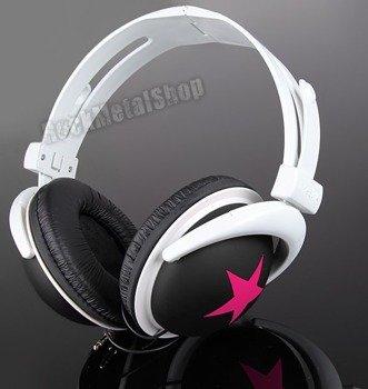 słuchawki HEADPHONE STAR PINK/BLACK