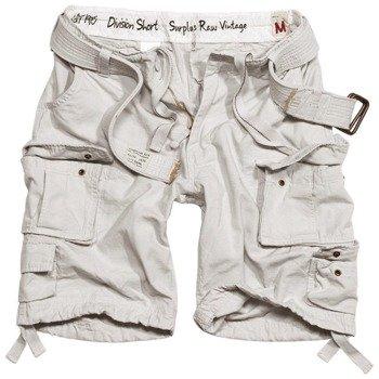 spodnie bojówki krótkie DIVISION SHORTS OFF-WHITE
