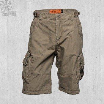spodnie bojówki krótkie WEST COAST CHOPPERS - INDUSTRIY DARK KHAKI