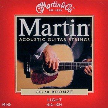 struny do gitary akustycznej MARTIN M540 - 80/20 BRONZE Light /012-054/