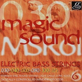 struny do gitary basowej 6str. GALLI STRINGS - MAGIC SOUND MSR61 HEXAGONAL /030-125/