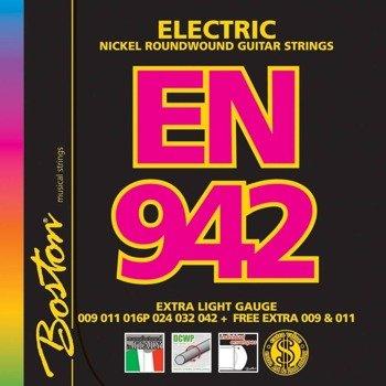 struny do gitary elektrycznej BOSTON EN-942 NICKEL ROUNDWOUND /009-042/