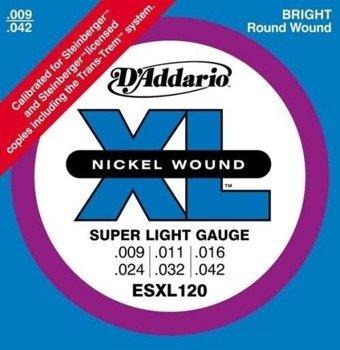 struny do gitary elektrycznej D'ADDARIO ESXL120 /009-042/