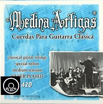 struny do gitary klasycznej MEDINA ARTIGAS Black 420 Medium