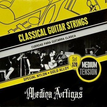 struny do gitary klasycznej MEDINA ARTIGAS Special Nylon Black 520B Medium