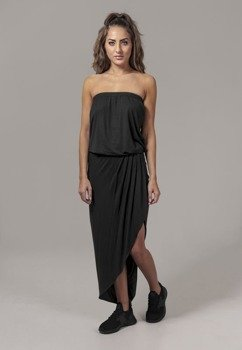 sukienka LADIES VISCOSE BANDEAU DRESS black