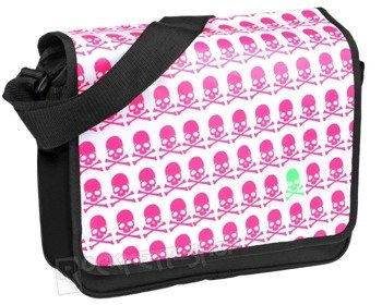 torba LONGTIME GOTHIC - PIRATE SKULL BLACK/PINK