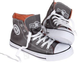 trampki NEW AGE - GREY / ORANGE (082)