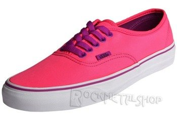trampki damskie VANS - AUTHENTIC NEON PINK PURPLE