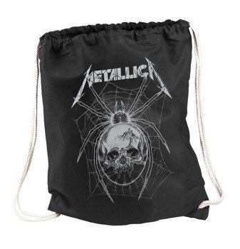 worek/plecak METALLICA - GREY SPIDER BLACK DRAWSTRING