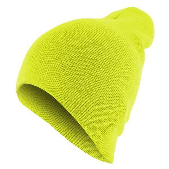 czapka zimowa MASTERDIS - BEANIE BASIC FLAP neonyellow