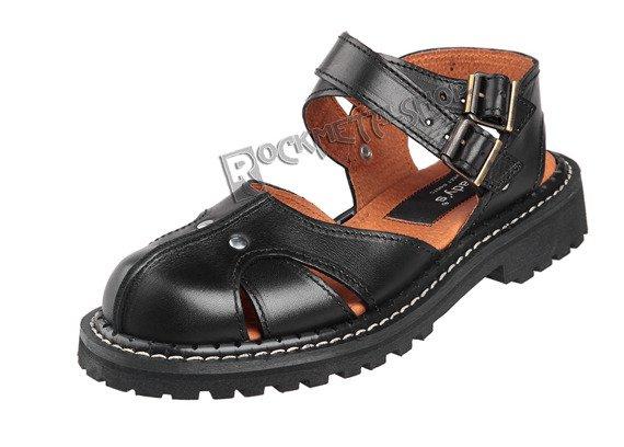 sandały damskie (glandały) STEADY'S czarne (STE/ROCK/2)