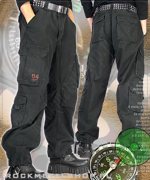 spodnie bojówki AIRBORNE VINTAGE TROUSERS BLACK