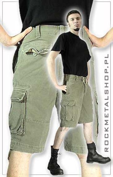 spodnie bojówki krótkie VINTAGE OLIVE
