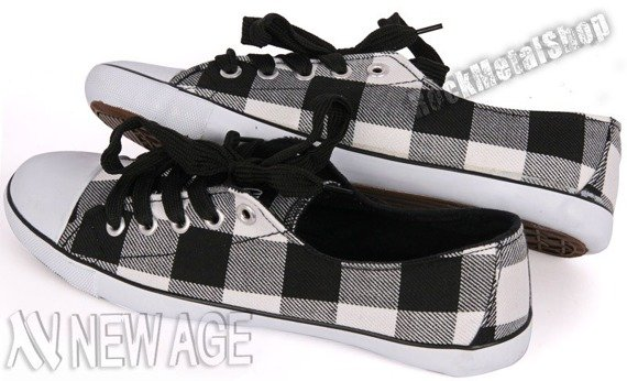 trampki NEW AGE - BLACK/WHITE (BH-306)