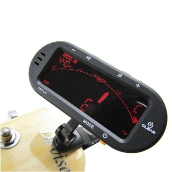 """""""3w1"""": tuner / stroik gitarowy, metronom GLEAM GMT-20 uniwersalny, na klip"""